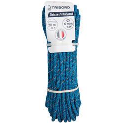 Val touwwerk boot 6 mm x 20 m blauw/oranje
