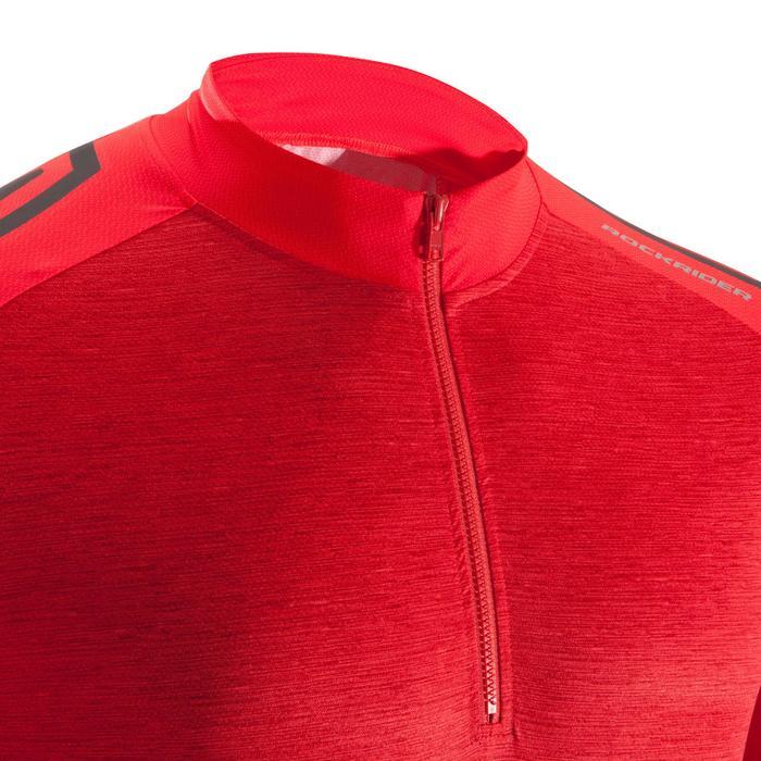 Maillot BTT ST 500 Hombre Rojo Fluo