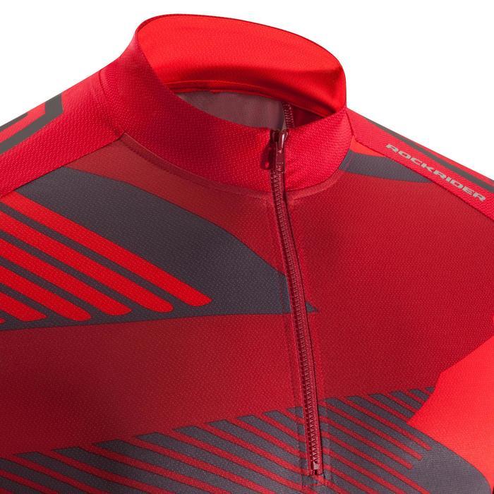 Maillot BTT ST 500 Hombre Rojo Granate