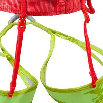 Klimgordel voor alpien/sportklimmen volwassenen oranje/geel