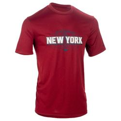 TEE SHIRT DE BASKETBALL HOMME CONFIRME FAST NYC GRIS ROUGE
