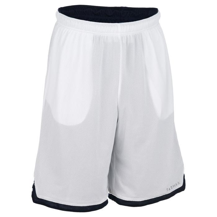 Basketballshorts Wendeshorts SH500R Herren Fortgeschrittene schwarz/weiß
