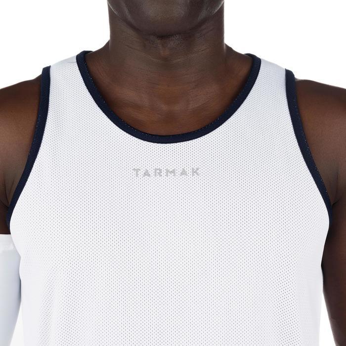 Mens' Intermediate Reversible Basketball Tank Top - White/Blue - 1298918