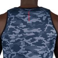 Dvipusiai berankoviai krepšinio marškinėliai – kamufliažinė pilka / juoda