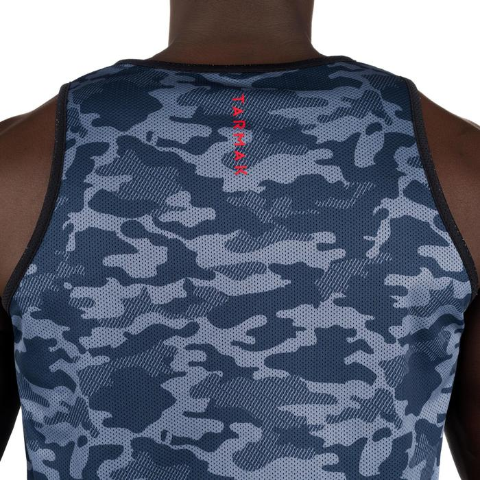 Mens' Intermediate Reversible Basketball Tank Top - White/Blue - 1298920