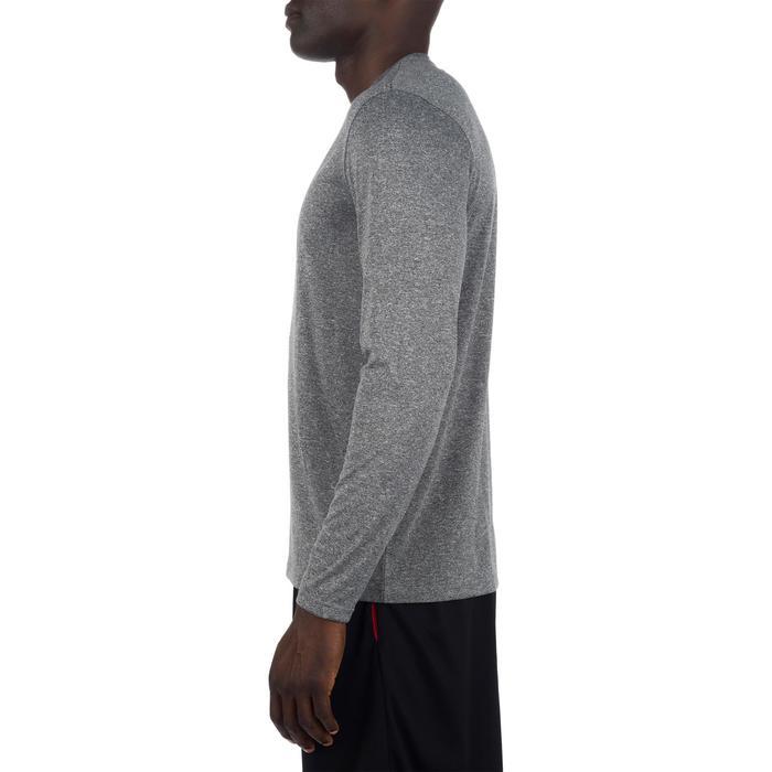 Basketbalshirt met lange mouwen voor halfgevorderde heren Fast grijs rood