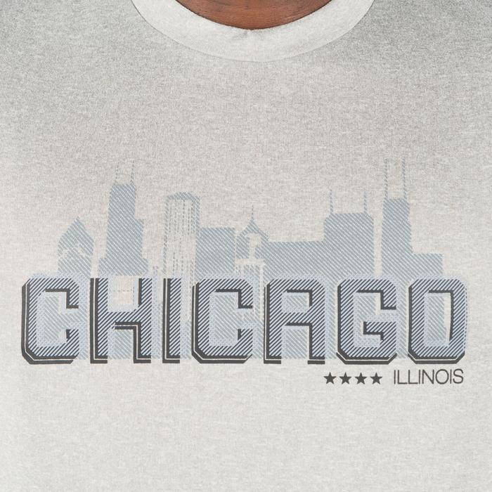 Basketbal T-shirt voor halfgevorderde heren Fast Chicago grijs