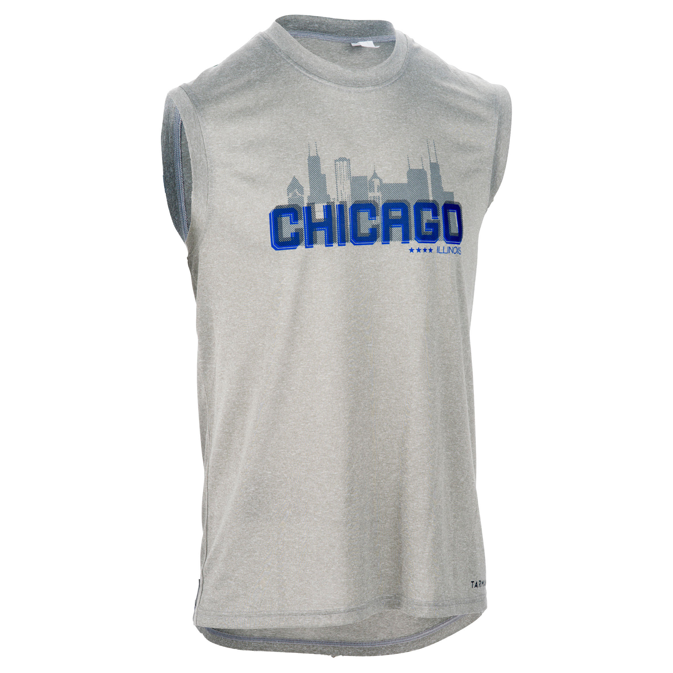 Intermediate Basketball Tank Top - Chicago/Grey/Blue