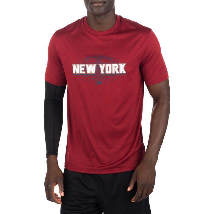 Basketballshirt Fast New York Herren Fortgeschrittene grau/rot