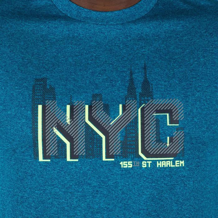 Basketballshirt Fast NYC Herren Fortgeschrittene blau/gelb