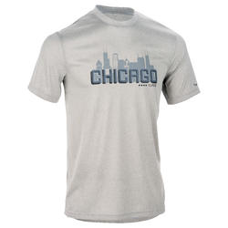 ADULT BASKETBALL T-SHIRT TS FAST CHICAGO GREY
