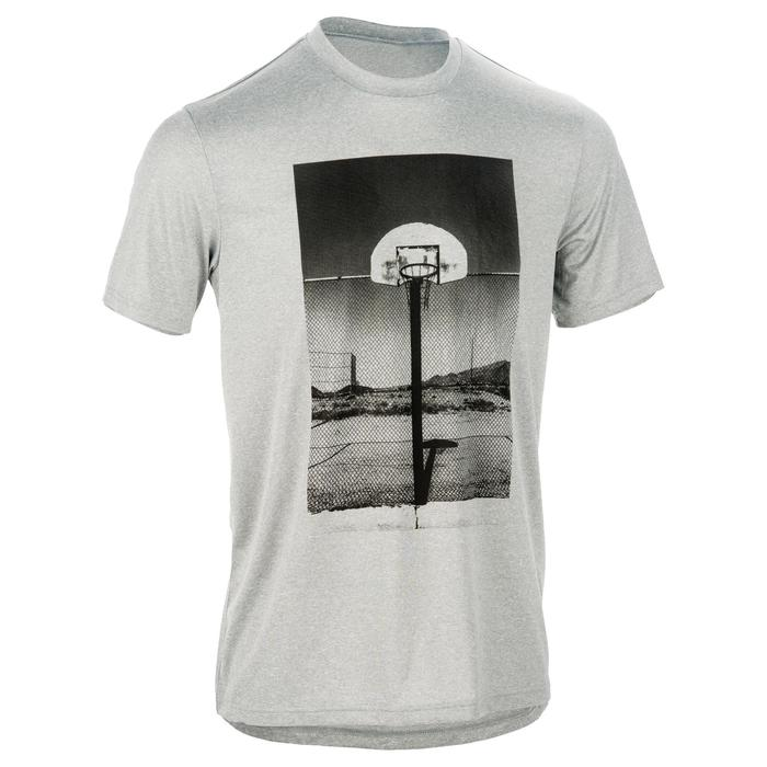TEE SHIRT DE BASKETBALL HOMME DEBUTANT/ CONFIRME FAST TARMAK PHOTO GRIS