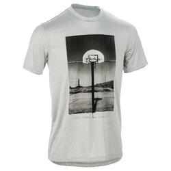 Fast Court Intermediate Basketball T-Shirt - Black/Red