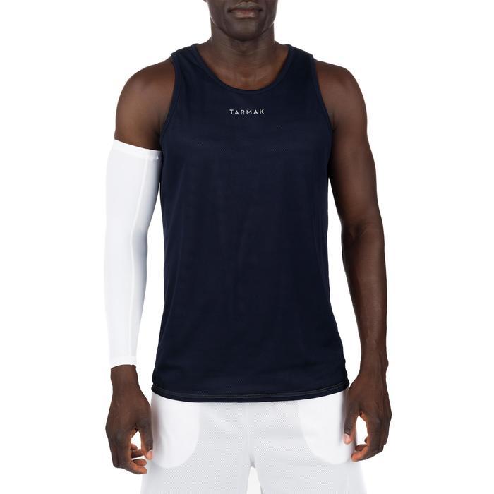 Mens' Intermediate Reversible Basketball Tank Top - White/Blue - 1298967