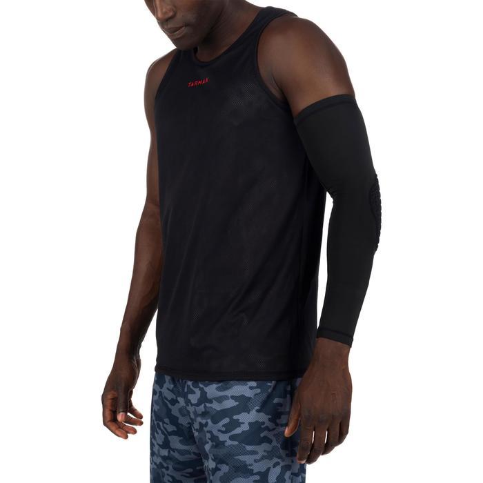 Omkeerbaar basketbalshirt voor halfgevorderde heren camouflage grijs zwart