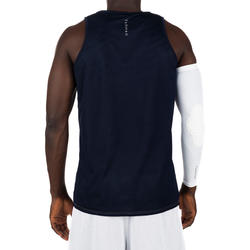 Men's Intermediate Reversible Basketball Tank Top - White/Blue