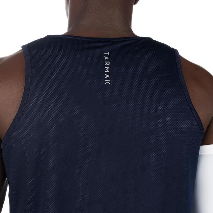 Mens' Intermediate Reversible Basketball Tank Top - White/Blue - 1298995