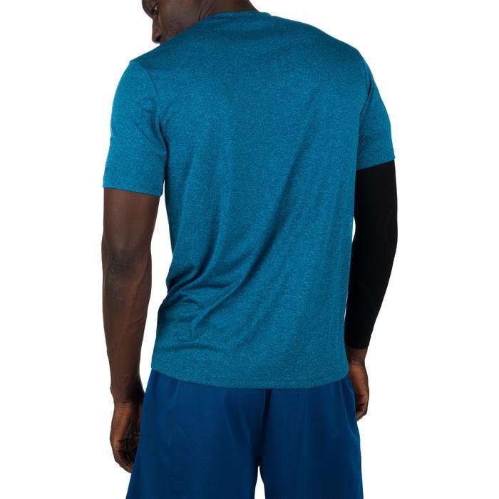 Basketbal T-shirt voor halfgevorderde heren Fast NYC blauw geel