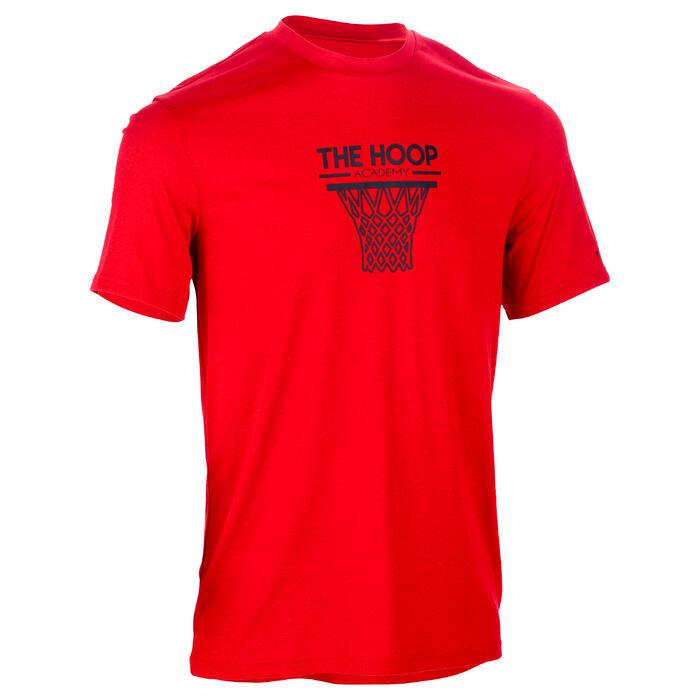 Basketbal T-shirt voor halfgevorderde heren Fast Hoop rood
