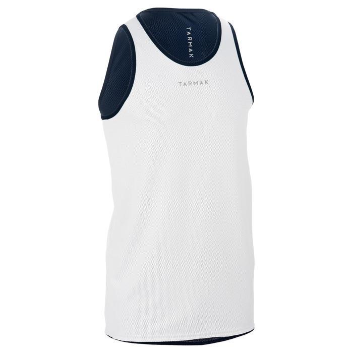 Mens' Intermediate Reversible Basketball Tank Top - White/Blue - 1299002