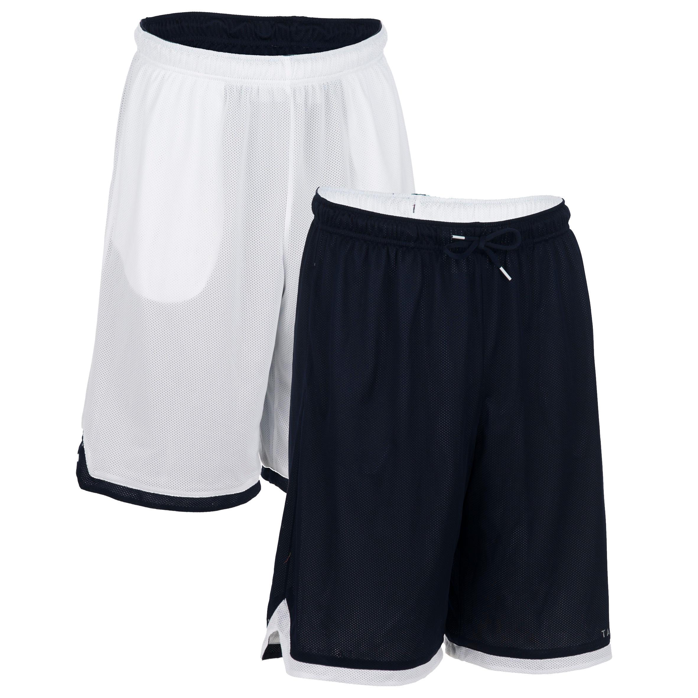 Reversible Beginner/Experienced Basketball Shorts - Black/White