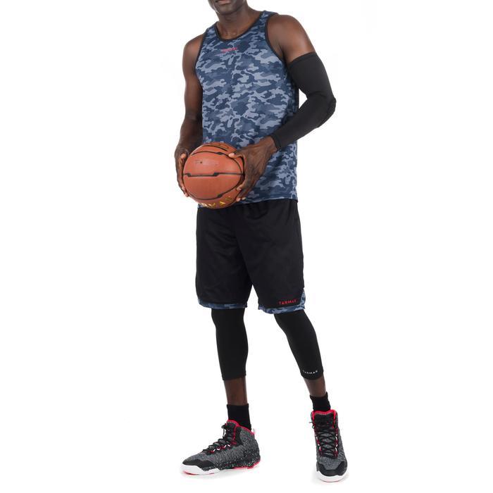 Basketball Wendeshorts Herren schwarz/camouflage grau
