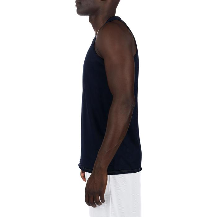 Mens' Intermediate Reversible Basketball Tank Top - White/Blue - 1299013