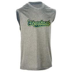 Mouwloos basketbalshirt voor halfgevorderde heren Fast Cleveland grijs groen