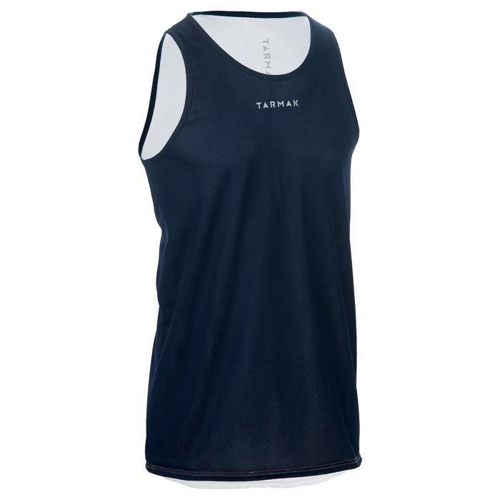 Mens' Intermediate Reversible Basketball Tank Top - White/Blue - 1299021