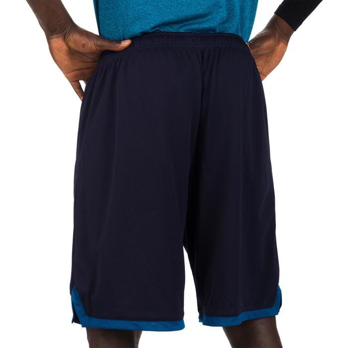 Basketball-Wendeshorts 500 Herren marineblau/gelb