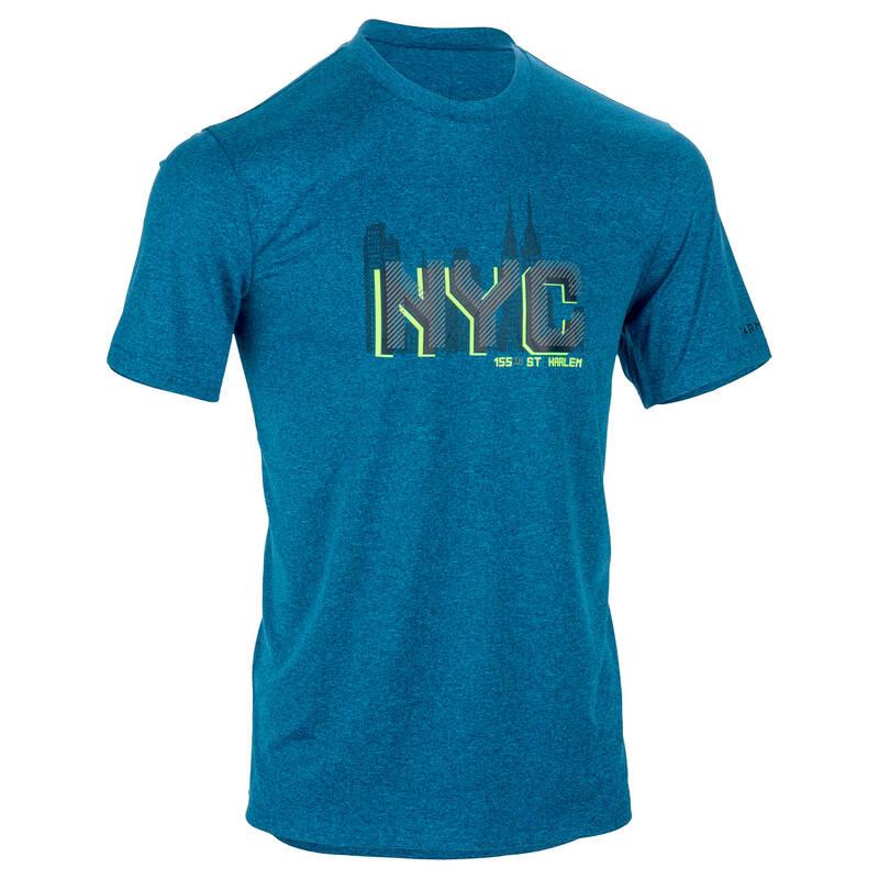 BASKETBALOVÉ OBLEČENÍ Basketbal - PÁNSKÉ TRIČKO FAST NYC ŽLUTÉ TARMAK - Basketbalové oblečení a doplňky