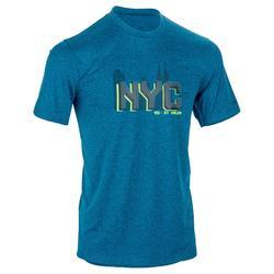 TEE SHIRT DE BASKETBALL HOMME CONFIRME FAST NYC BLEU JAUNE