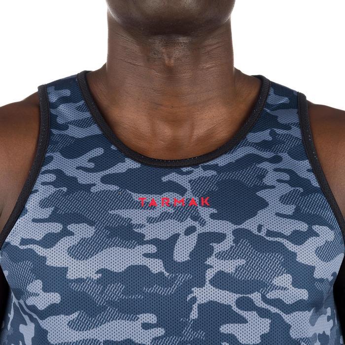 Mens' Intermediate Reversible Basketball Tank Top - White/Blue - 1299030