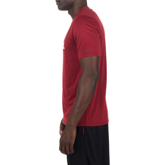 Basketbal T-shirt voor halfgevorderde heren Fast NYC grijs rood