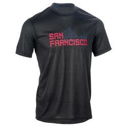 初學者/經驗豐富者用籃球運動T恤 Fast - 黑色/紅色