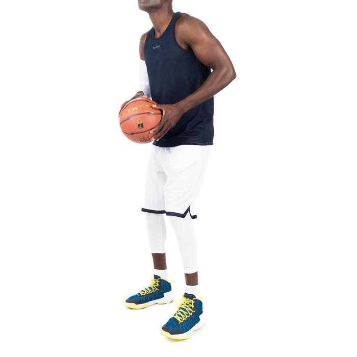 Men's' Intermediate Reversible Basketball Tank Top - White/Blue