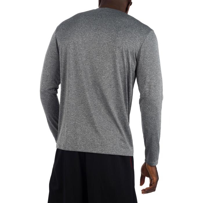 TEE SHIRT BASKETBALL HOMME CONFIRME FAST MANCHE-LONGUES NYC GRIS ROUGE - 1299056