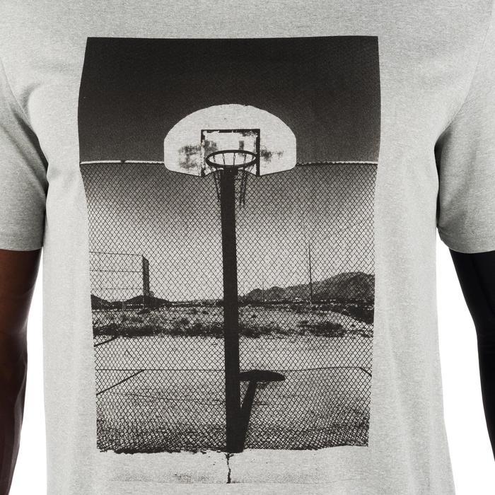 Basketbal T-shirt voor halfgevorderde heren Fast Photo grijs