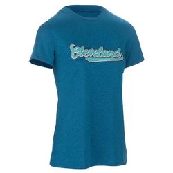Basketbal T-shirt voor halfgevorderde dames Fast Cleveland blauw