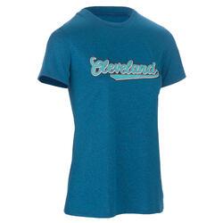 Basketbal T-shirt Fast dames gevorderden Cleveland blauw