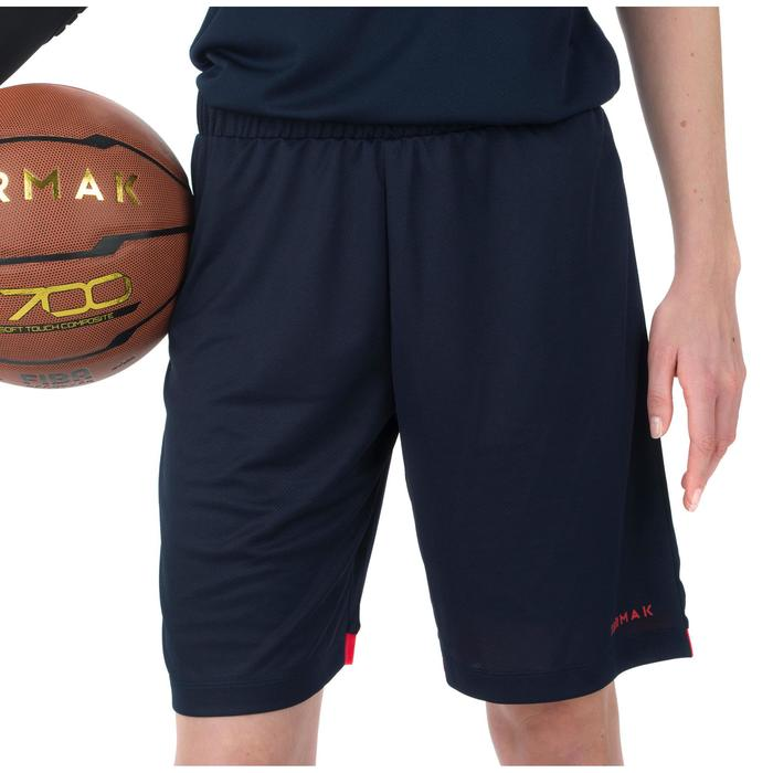 Basketballshorts SH500 Damen Fortgeschrittene marineblau
