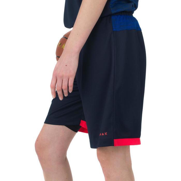 SHORT SH500 DE BASKETBALL FEMME POUR CONFIRMEE BLEU NAVY
