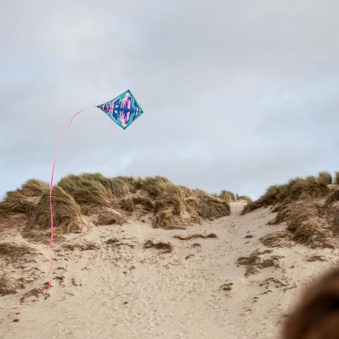 Cometas acrobáticas Playa Orao IZYPILOT 100 Coral/Azul 2 en 1 Evolutiva