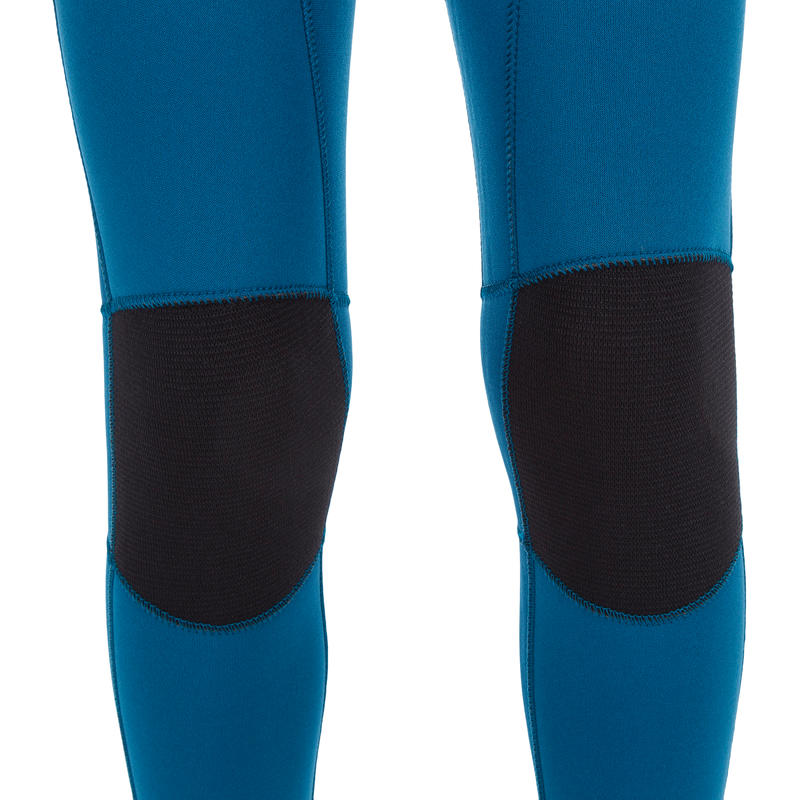 f59fd76023 500 Child's 4/3 mm neoprene surfing wetsuit - Blue yellow