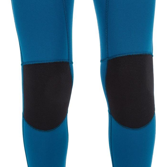 Combinaison SURF 500 Néoprène 4/3 mm enfant bleu jaune - 1299535