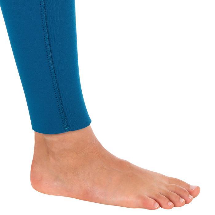 Combinaison SURF 500 Néoprène 4/3 mm enfant bleu jaune - 1299569