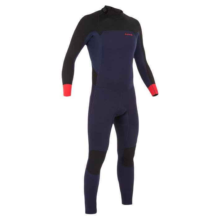 Heren wetsuit 500 neopreen 4/3 mm marineblauw - 1299572