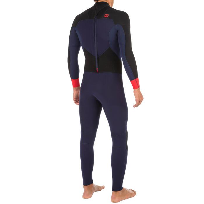 Heren wetsuit 500 neopreen 4/3 mm marineblauw - 1299577