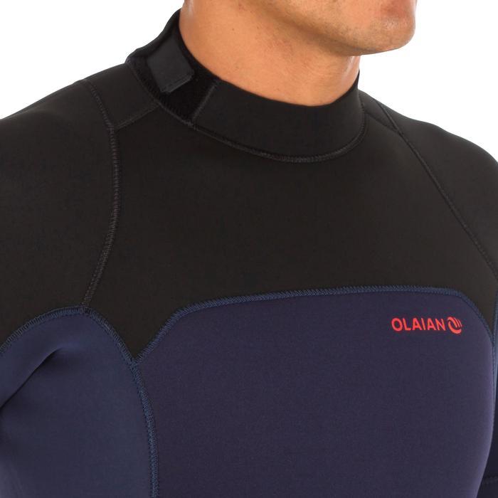 Wetsuit heren 500 neopreen 4/3 mm marineblauw