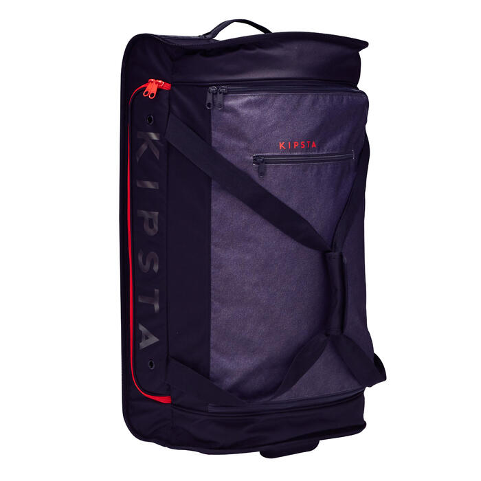 Classic 70L Roller Team Sports Bag - Grey/Red - 1299590
